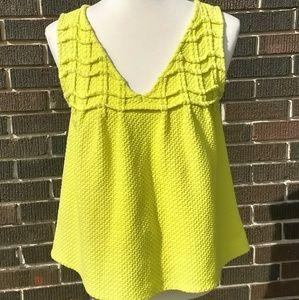 Anthropologie Deletta crochet top shirt sz small